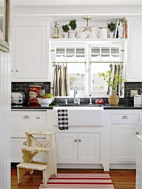 curtains for kitchen window above sink 8 ways to dress up the kitchen window without using a