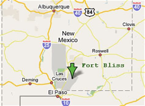 ft bliss texas map sighting reports preious to 1990