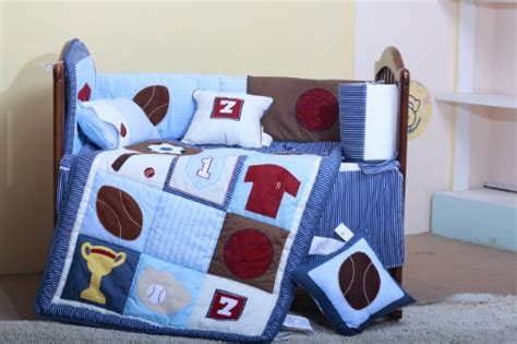 Basketball Crib Bedding Sets by Sports Baby Crib Bedding Set 8 Pieces Baseball Basketball