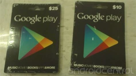 Where Can I Buy A Play Store Gift Card - physical google play store gift cards pictured in 10 25 denominations could come