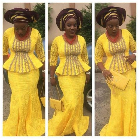 bella naija cord lace iron and blouse styles 25 best ideas about aso ebi lace styles on pinterest