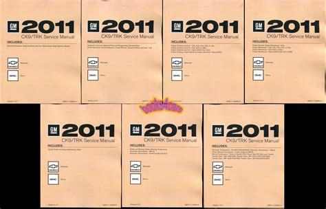 2011 Silverado Sierra Shop Manual Chevrolet Gmc Service