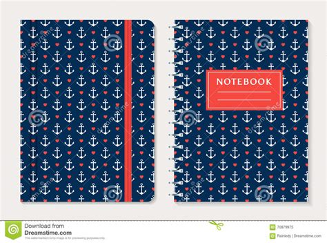 notebook cover design vector free download notebook cover design vector set stock vector image