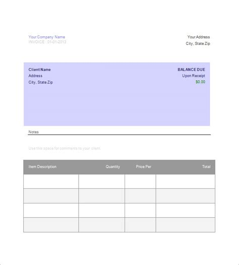 templates for docs download invoice template google docs