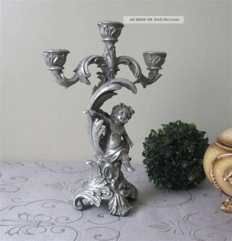 kerzenhalter silber antik kerzenleuchter antik engel barock kerzenhalter silber