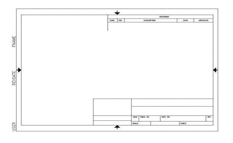 Autocad Template Title Block Sheet Cad Block Layout File In Autocad Format Autocad Title Block Template