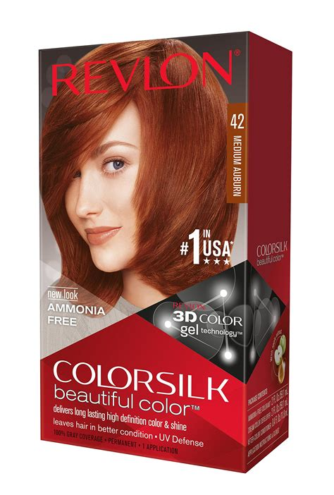 revlon hair dye colors revlon colorsilk haircolor light auburn 4 4