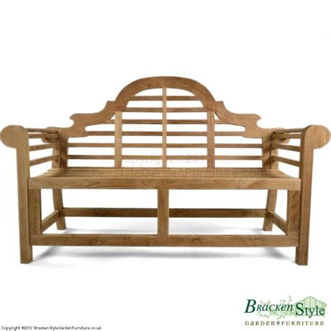 buy garden bench marlborough lutyens teak garden bench