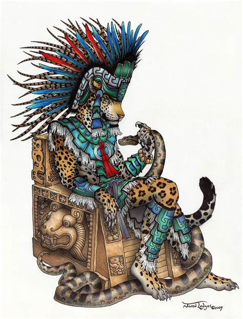 imagenes de azteca hit tepeyollotl aztec jaguar god by scribblefox on deviantart