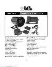 black widow security bw 3000 manuals