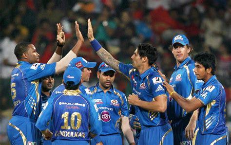 ipl mumbai team players royal challengers bangalore stun mumbai indians in ipl 6