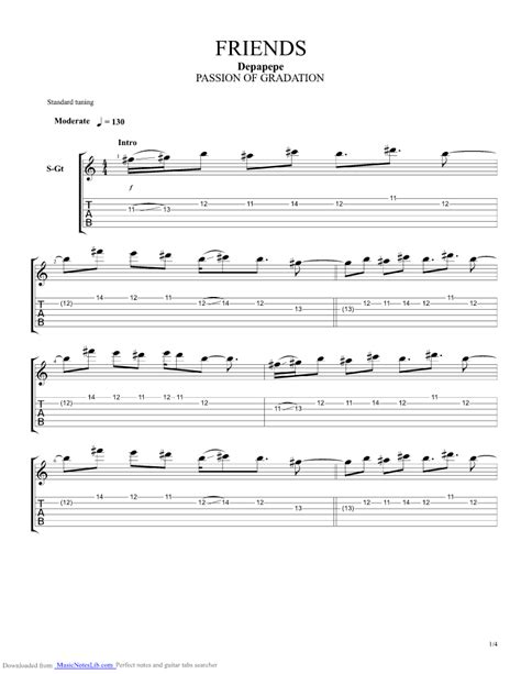 Wedding Bell Guitar Pro by Friends Guitar Pro Tab By Depapepe Musicnoteslib