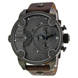 diesel only the brave chronograph dual time zone