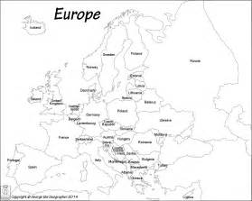 Black And White Map Of Europe by Black And White Labeled Map Of European Countries Pictures