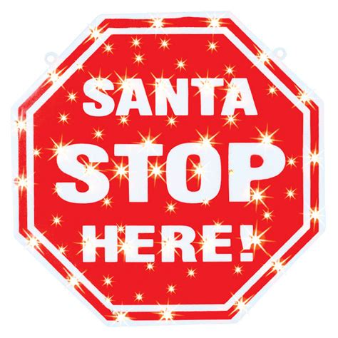 santa stop here signs santa stop here indoor light lights decorations