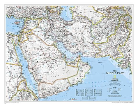 map usa national geographic buy middle east sleeved by national geographic maps