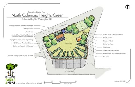 community garden layout design north columbia heights green update park view d c