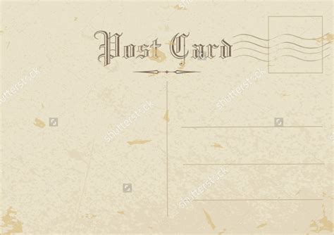 back of postcard template photoshop 15 postcard templates free sle exle format