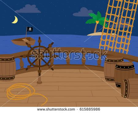 cartoon boat deck pirate scene stock images royalty free images vectors