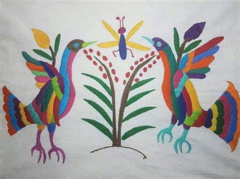 almohadas mexicanas mexican otomi embroidered decorative pillow cover
