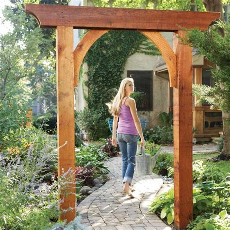 build an arbor trellis build a garden arch garden arches walkways and pergolas