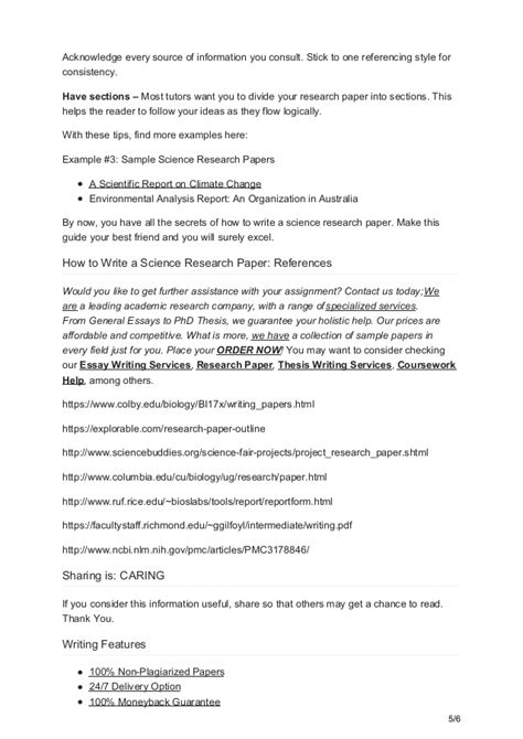 how to write a science research paper globalcompose how to write a science research paper