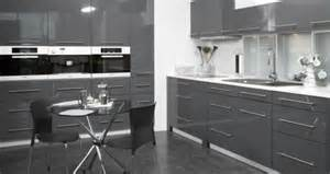 High Gloss Grey Kitchen Cabinets Charcoal Grey