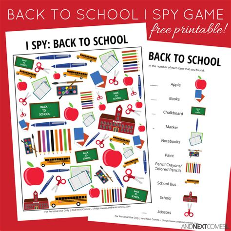 printable games for school back to school themed i spy game free printable for kids
