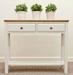 Entrance Table With Drawers Intone Painted Oak Table Oak Furniture Solutions
