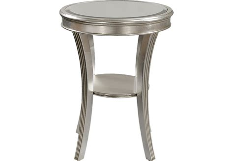 Living Room Bookcases Waterbury Silver Accent Table Accent Tables Colors