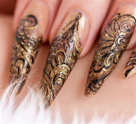 Fingernägel Design Vorlagen Einfach Selber Machen Spitze Geln 228 Gel Stilettos Richtig Feilen