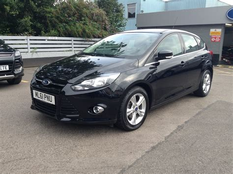 ford ford focus 1 6 zetec 5dr 125ps in black 2011 for sale
