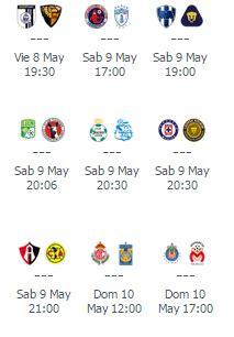 Calendario Liga Mx Jornada 17 Apertura 2015 Calendario Jornada 17 Clausura 2015 Asi Se Jugar 225 El
