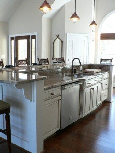 kitchen island with raised bar bar kitchen side a and bar on pinterest