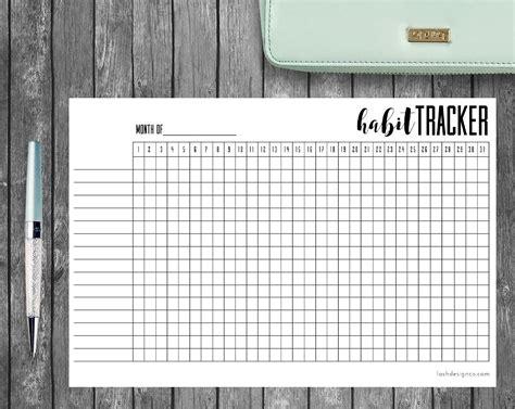 printable habit tracker bullet journal printable habit tracker a5 bullet journal or planners