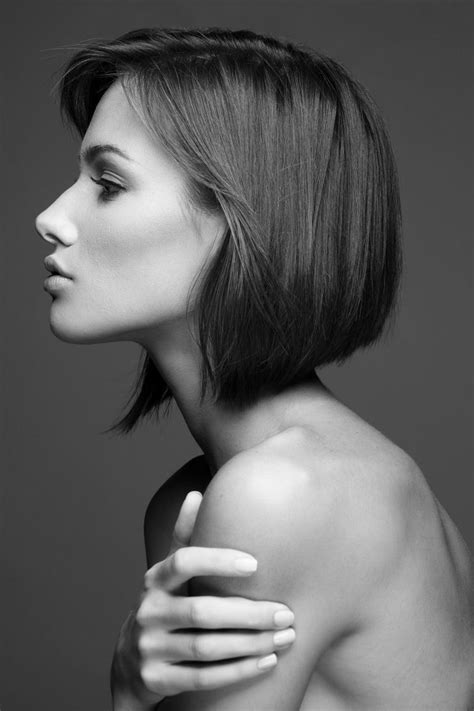 side profile of hairstyles the classic bob hair ideas short hair pinterest