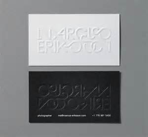 blind embossed business cards eriksson business card design inspiration card