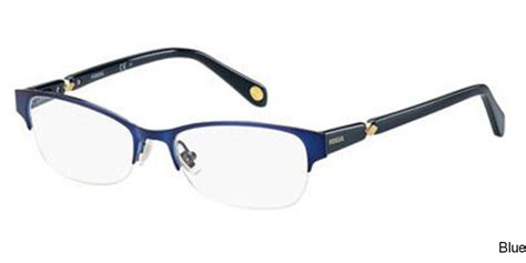 buy fossil 7000 semi rimless half frame prescription