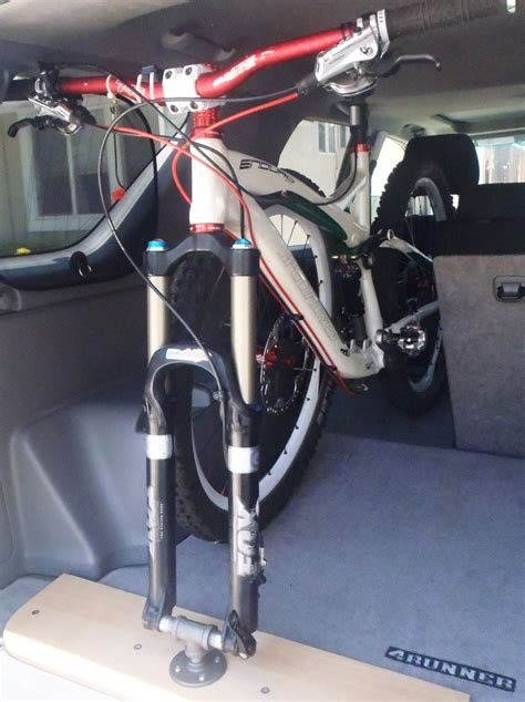 In Car Bike Rack by Diy Bike Rack Inside Car