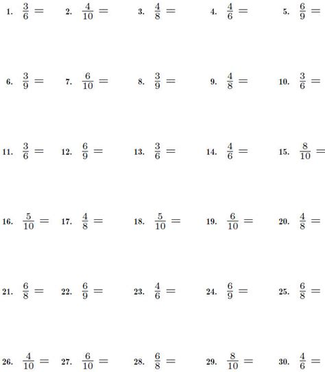 Reducing Fractions Worksheets by Fractions Worksheet