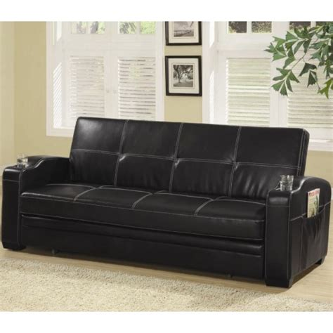 leather sofa with storage coaster sofa beds and futons faux leather sofa bed with