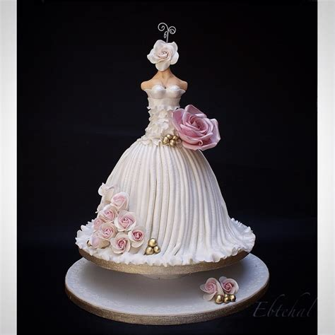 Wedding Dress Wedding Cake by Wedding Dress Cake By Ebtehal Cakesdecor