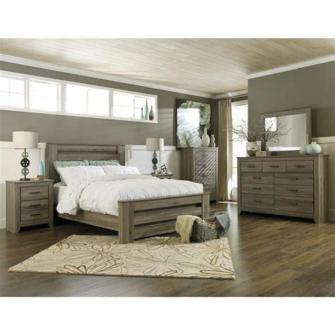 bedroom furniture sets full zelen 4 piece queen bedroom set in warm gray nebraska