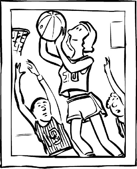 crayola coloring pages sports basketball making the hoop coloring page crayola com