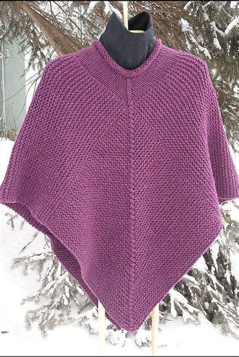 poncho pattern knitting yarn 50 x 50 poncho knitting pattern pdf garter stitch