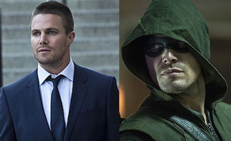 stephen amell says oliver queen beats up the arrow in the