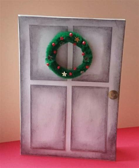 türkranz weihnachten selber machen weihnachtskarte selber machen anleitung zum basteln