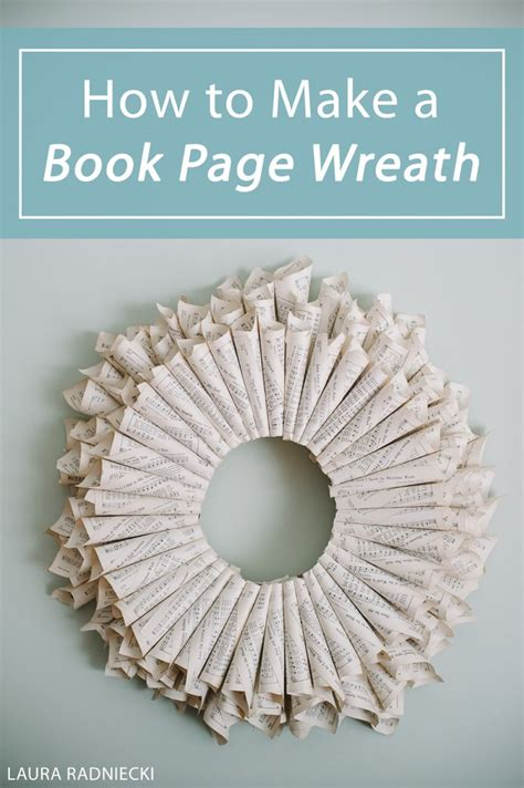 How To Make A 10 Page Book Out Of Paper - how to make a book page wreath a diy tutorial