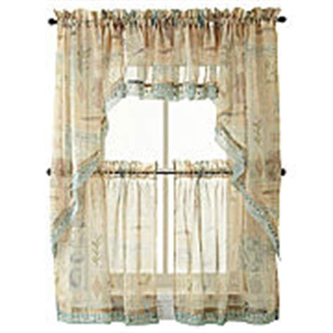 kitchen curtains at jcpenney seascape kitchen curtains