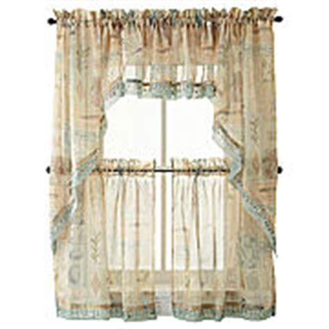 kitchen curtains jcpenney seascape kitchen curtains